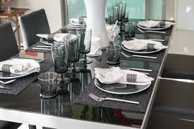 Dining Table Set Up Attractive Dining Room Set Up Ideas Modern Glass Table