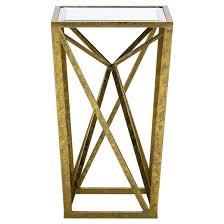 jaye angular mirror accent table gold target