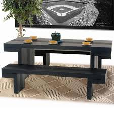 interesting design ideas rectangle dining table with bench