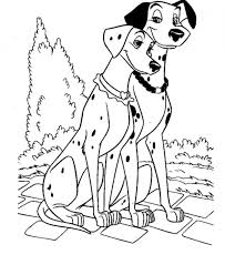 coloring pages dalmatians coloring page disney family 101