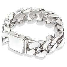 link men silver bracelet images Mens sterling silver bracelet www thehoffmans info jpg