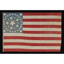 Star Flags Jeff Bridgman Antique Flags And Painted Furniture 37 Stars In 4