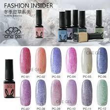 12 colors 5ml che fur style nail art polish gel manicure