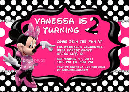 impactful cute minnie mouse birthday invitations