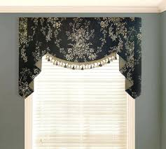 white swag curtains country house black valance valances off white