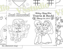 kids wedding coloring activity cool personalized wedding coloring