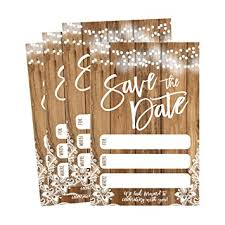 rustic save the date 50 rustic save the date cards for wedding engagement