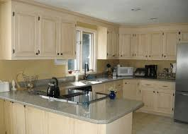 dark walnut cabinets kitchens white ceramic tile floor black