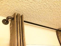 Metal Pipe Curtain Rod Industrial Pipe Window Curtain Rod Rustic Pipe Bathroom