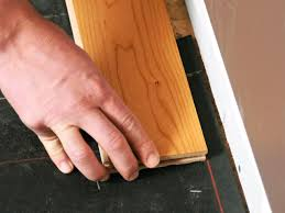 Laminate Floor Edging Trim How To Install Prefinished Solid Hardwood Flooring How Tos Diy