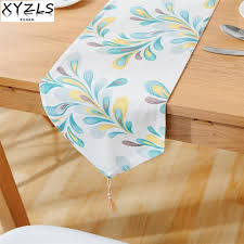 blue and white table ls xyzls new euro and american feather double layers table runners no