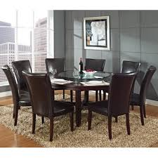 9pc dining room set steve silver hartford 9 piece round dining room set w brown