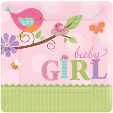 bird baby shower tweet baby girl small paper plates 8ct toys