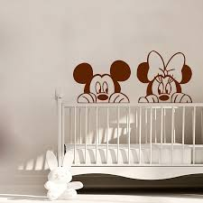 online get cheap minnie mouse wall mural aliexpress com alibaba mickey and minnie mouse head cute wall stickers home nursery kids bedroom decorative vinyl wall murals