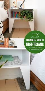 remodelaholic how to build a super easy nightstand for beginner