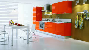 Orange Kitchen Decorating Ideas  BayTownKitchen - Orange kitchen cabinets