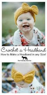 baby crochet headbands crochet bow headwrap free pattern crochet free