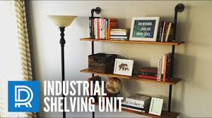Build A Simple Wood Shelf Unit by Build A Diy Industrial Pipe Shelving Unit Youtube