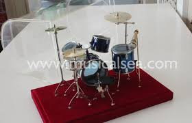 miniature blue drum set ornament and mini musical