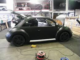 beetle volkswagen black wraap gallery matte black beetle wrap