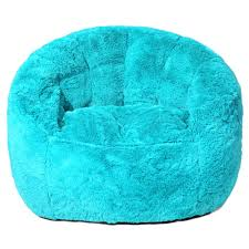 faux fur bean bag chair teal toys