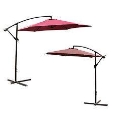 Frontgate Patio Umbrellas Frontgate 10 Square Side Mount Patio Umbrella Bronze Brown Handle
