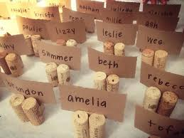 diy wedding place card holder using cork whyallthefuss
