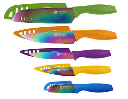 coloured kitchen knives set hampton forge tomodachi 10 piece knife set u0026 reviews wayfair