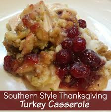 southern style thanksgiving turkey casserole