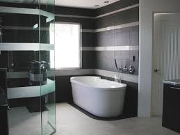 black and silver bathroom ideas glass borders wooden storage racks small white chest of drawer