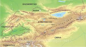 Tajikistan Map 28 Asia Kazakhstan Uzbekistan Turkmenistan Kyrgyzstan