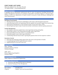 Sample Resume India by Resume Cv Of A Purchase Manager In India