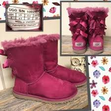 womens pink ugg boots with bows s pink ugg boots with bows on poshmark
