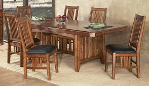 mission style dining room set mission dining room set oasis