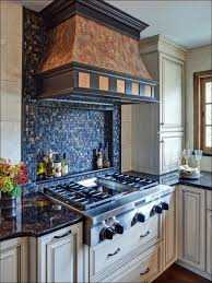 Natural Stone Backsplash Kitchen Mission Style Cabinet Doors - Layered stone backsplash