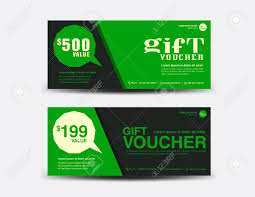 green gift voucher vector illustration green gift voucher coupon design ticket banner discount