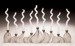 menorah modern meta menorah by slovis pewter bronze menorah menorah