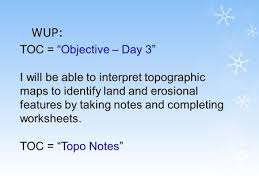 topographic map notes ppt download