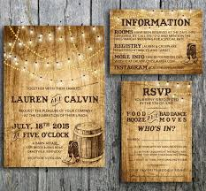 country wedding sayings country wedding invitation suite with lights and cowboys boots