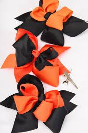 halloween bow ties hair bow large halloween double layer alligator clip grosgrain bow