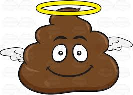 angelic pile poo cartoon clipart vector toons