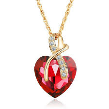 crystal heart pendant necklace images Fashion jewelry 2 colors austrian crystal heart pendant necklace jpg