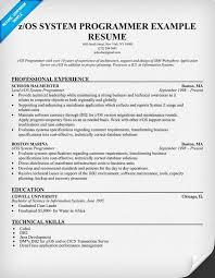 Resume Bm 24 Cover Letter Template For Z Os Unix System Programmer Resume