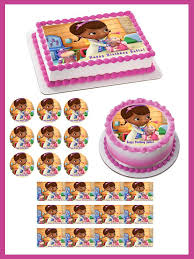doc mcstuffins cupcake toppers doc mcstuffins 2 edible birthday cake or cupcake topper edible