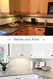 kitchen makeovers with cabinets our kitchen makeover no more maple m interiors