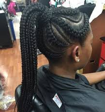 hair braided into pony tail 70 best black braided hairstyles that turn heads in 2018