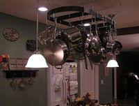 kitchen island pot rack lighting how to hang a pot rack and lights a kitchen island ehow