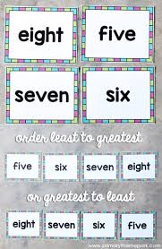 number sight words primary theme park