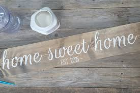 home sweet home established sign new home sign home decor