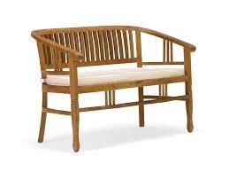 ws 83 sleek teakwood bench sofa details bic furniture india